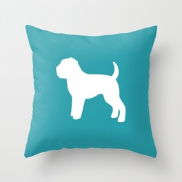 Wheaten Terrier (Teal/White) Throw Pillow