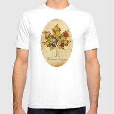Leafy MEDIUM Mens Fitted Tee White