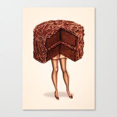 Cake Girl - Devil's Food Canvas Print