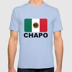 El Chapo Mexican flag Tri-Blue Mens Fitted Tee 2X-LARGE