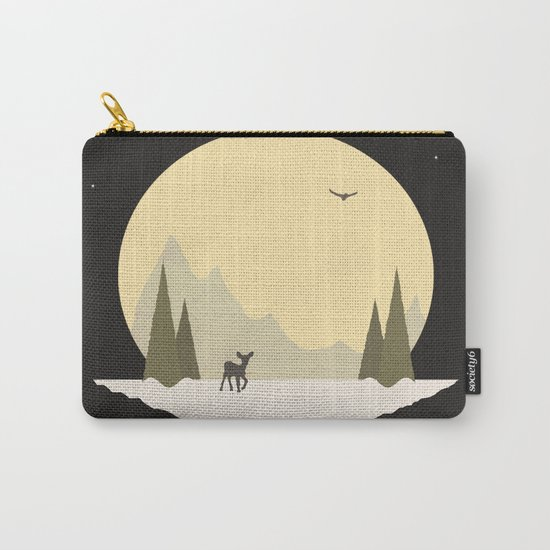Wintertime (deer version) Carry-All Pouch