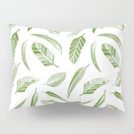 Leaf Pattern - Green Pillow Sham