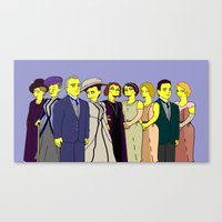 downton abbey Canvas Prints featuring Downton Abbey - Cast Upstairs - Nine by DonnaHuntriss