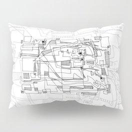 Conversation - b&w Pillow Sham
