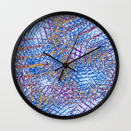 Blue Abstract Stripes Beach Colors Wall Clock