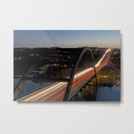 360 Bridge Night Metal Print