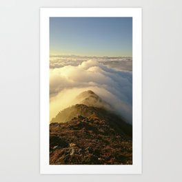 mysterial cluods Art Print