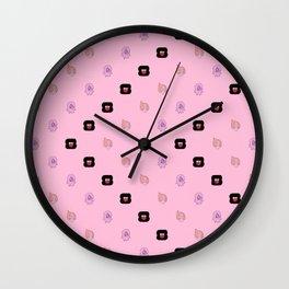 Crystal Gems Pattern Wall Clock