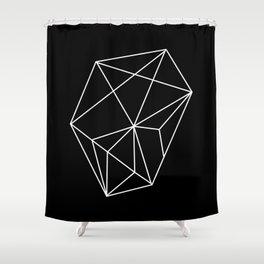 Rock black Shower Curtain