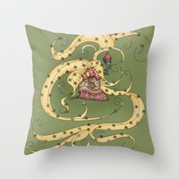 rapunzel Throw Pillows featuring Rapunzel by Catru