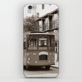 Trolley on Water Street, Wilmington NC iPhone Skin