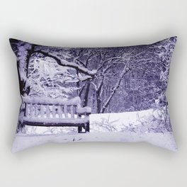 Ann Arbor Arboretum Winter Snow Rectangular Pillow