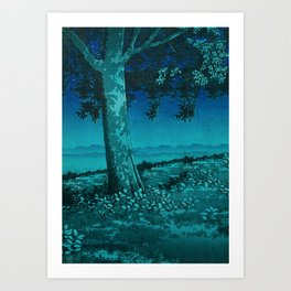 Nightime in Gissei Art Print