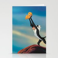 the lion king Stationery Cards featuring LION KING by Julie Qiu