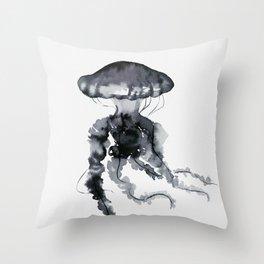 Jellyfish - Ink Throw Pillow