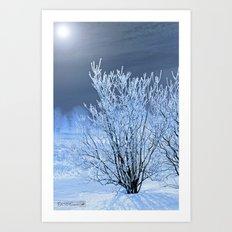 Hoar Frost on the Lilac Bush Art Print