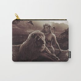 VIII. Strength Tarot Card Illustration (Warmth) Carry-All Pouch