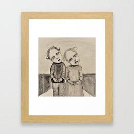 strange kids Framed Art Print
