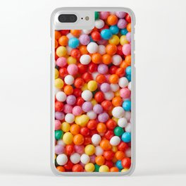 Multicolored candy drops Clear iPhone Case