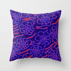 Flowers in blue Throw Pillow