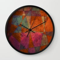baroque Wall Clocks featuring Baroque Cubism by Tony Vazquez
