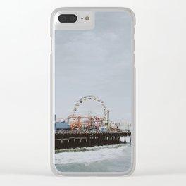 santa monica / california Clear iPhone Case