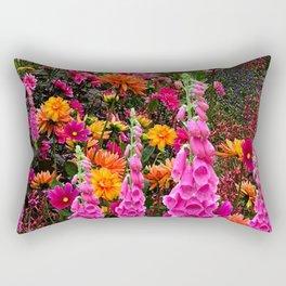 DECORATIVE SPRING FLOWERS GARDEN ART Rectangular Pillow