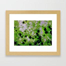 Green crystals pt.2 Framed Art Print