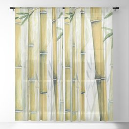 Bamboo Trees Sheer Curtain