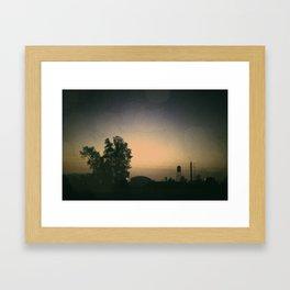 one october night. Framed Art Print