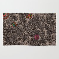 flower pattern Area & Throw Rugs featuring Flower Pattern by Aubree Eisenwinter