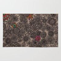 flower pattern Area & Throw Rugs featuring Flower Pattern by Aubree Eisenwinter