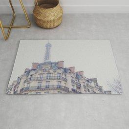 Paris photography, Eiffel tower, Saint-Germain-des-Prés, Paris architecture, boulevard Rug
