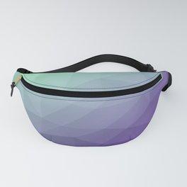Purple green ombre gradient geometric mesh Fanny Pack