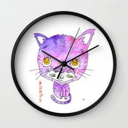 Wearing a Cat Wall Clock