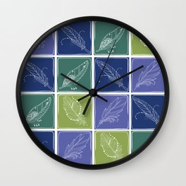 Feather Fabric Wall Clock