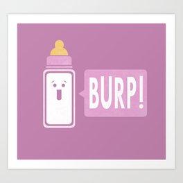 Burp (Pink) Art Print