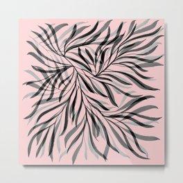 Pink Foliage I Metal Print