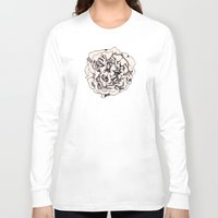 damask Long Sleeve T-shirts featuring Damask Rose by Katie Acheson Wolford