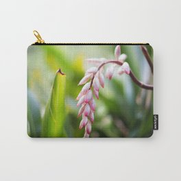 White Ginger Flower Carry-All Pouch