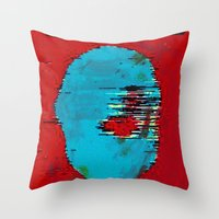 marx Throw Pillows featuring Marx by Alec Goss