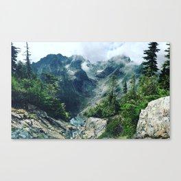 Mountain through the clouds Canvas Print