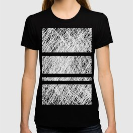 Interrupted Thoughts - Abstract Black And White T-shirt