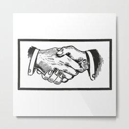Handshake Metal Print