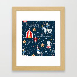 Retro Circus Framed Art Print