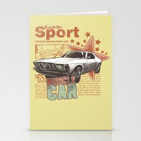 muscle Stationery Cards featuring Muscle Car by Tshirt-Factory