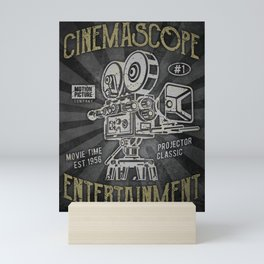 Cinemascope cameraman camera movie Mini Art Print