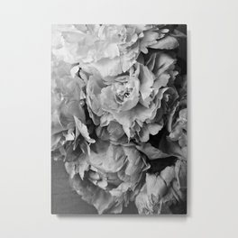 Peonies Black and White 1 Metal Print
