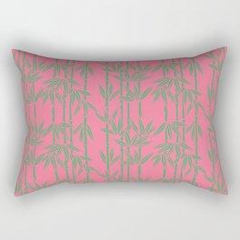 Bamboo Waterfall in Coral Reef/Everglade Green Rectangular Pillow