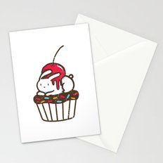 Chubby Bunny on a cupcake Stationery Cards